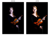 violin student - before & after