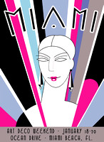 poster design for Miami Beach Art Deco Weekend
