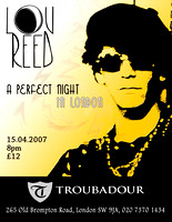 rock poster for a Lou Reed show