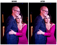 Shelly Berg & Gloria Estefan - before & after